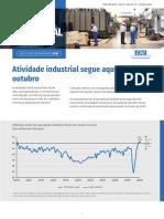 Sondagem Industrial Outubro 2020