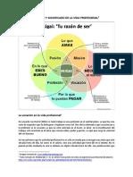 SENTIDO Y SIGNIFICADO DE LA VIDA PROFESIONAL-TALLER