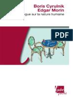 (Aube poche essai) Cyrulnik, Boris_Morin, Edgar - Dialogue sur la nature humaine-Editions de l'Aube (2010_2011) (1).pdf