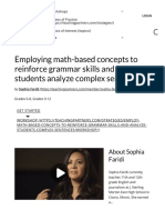Employing math-based concepts to reinforce grammar skills and help students analyze complex sentences. – TeachingPartners