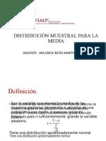 Distribucion muestral para la media