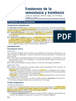 transtornos de la hemostasia y trombosis