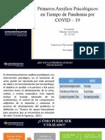 PRIMEROS AUXILIOS PSICOLOGICOS COVID-19