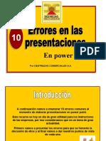 10 errores en las presentaciones