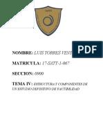 TEMA IV ESTRUCTURA Y COMPONENTES DE UN ESTUDIO DEFINITIVO DE FACTIBILIDAD