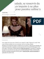 Couper sa salade, se resservir du fromage... Les impairs à ne plus commettre pour paraître raffiné à table - Cuisine  Madame Figaro.pdf