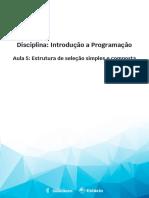 Aula 5 - Estrutura de seleção simples e composta.pdf