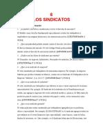 LOS SINDICATOS (CUESTIONARIO) (1)