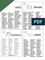 DICIONÁRIO DE LEITURA- PALAVRAS