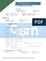 Tema 7.Sistemas de Ecuaciones