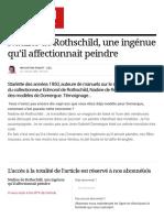 Nadine de Rothschild, une ingénue qu'il affectionnait peindre - 1 juillet 2006 - L'ŒIL - n° 582