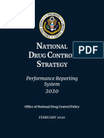 2020 National Drug Control Strategy Performance Reporting System