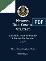 2020 National Drug Control Strategy Treatment Plan