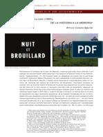 X. Nuit Et Bro Uil Lard. de La Historia a La Memoria
