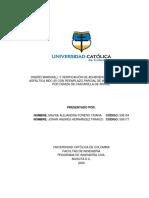 DISEÑO MARSHALL Y VERIFICACIÓN DE ADHERENCIA DE UNA MEZCLA ASFÁLTICA MDC-25