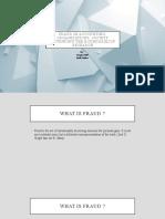 Fraud in accounting, organizations, society