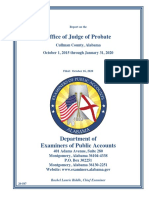Report on the Office of Judge of Probate Cullman County, Alabama October 1, 2015 through January 31, 2020
