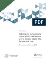 Evolucion Canasta Jujuy 2019- 2020 Octubre