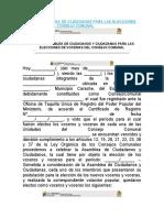 ACTA DE ASAMBLEA DE CIUDADANOS PARA LAS ELECCIONES DE VOCERIAS DEL CONSEJO COMUNAL