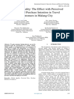 Website Quality the Effect With Perceived Flow and Purchase Intention in Travel Customers in Malang City