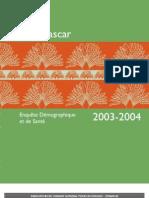 Enquête Démographique et de Santé  2003-2004