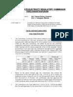 Schedule of Tariff w.e.f 01.04.2020