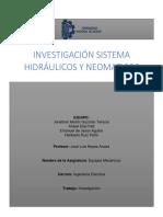 INVESTIGACIÓN SISTEMAS HIDRÁULICOS Y NEUMÁTICOS