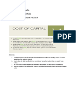 ASSIGNMENT COST OF CAPITAL- Chapter 14 - Resti Aulia - 1182003031.docx