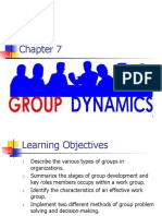 Chapter 7 Group Dynamics