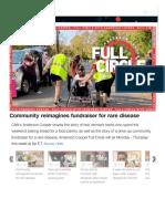 Community reimagines fundraiser for rare disease