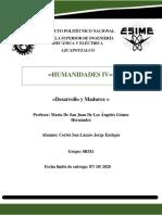 Desarrollo y Madurez- Cortés San Lázaro Jorge Enrique