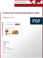 Turkey Fast Food Market Report 2010 by yStats