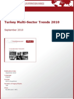 Turkey Multi-Sector Trends 2010 by yStats