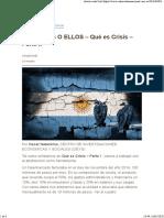Qué es Crisis – Parte II