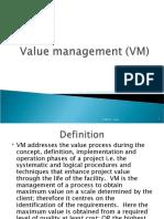 Value management (VM)
