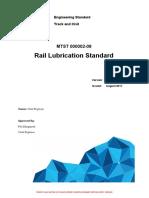 L1-CHE-STD-033 v1 - Rail Lubrication