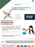 SEMINARIO Estrategias de manejo conductual grupal e individual