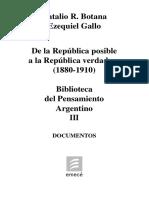 Natalio Botana - Ezequiel Gallo - De la república posible a la república verdadera (1880-1910).pdf