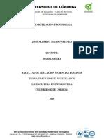 Anteproyecto; Alfabetizacion Tecnologica - Jose Tirado