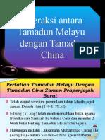 Interaksi antara Tamadun Melayu dengan Tamadun China