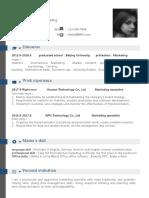 Universal & Simple Resume-WPS Office