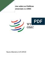 Noticias sobre as Políticas Comerciais e a OMC