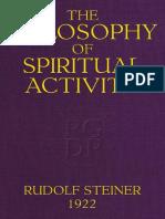 Rudolf Steiner - The Philosophy of Spiritual Activity, 1922