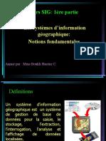 01 Cours SIG_L3_ Définitions Et Fonctionnalités
