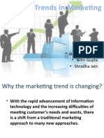 Changing Trends in Marketing