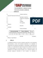 0705-07101 Sílabo Psicología Aplicada Al Derecho