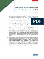 GÓMEZ Y MATHIEU (2018) Una nueva política para México o el nuevo PRI
