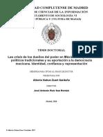 ZUART GARDUÑO (2018). Las crisis de los dueños del poder en México. Los partidos políticos tradicionales y su aportación a la democracia mexicana. Identidad, confianza y representación