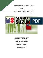 fundamental analysis of maruti suzuki ltd