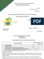 Planul de Lungă Durată dezvoltarea personal[ clasa V 2018-20191